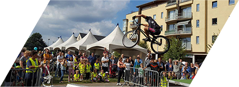 Demonstration de Vélo Trial